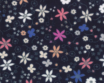 Half Yard Hello Petal Dinky in Darling Navy Blue, Aneela Hoey, Moda Fabrics, 100% Cotton Fabric, 18564 18