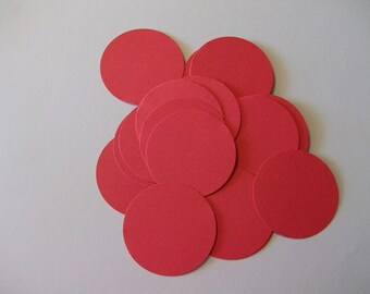 25 Red Die Cut Circles 2 inches