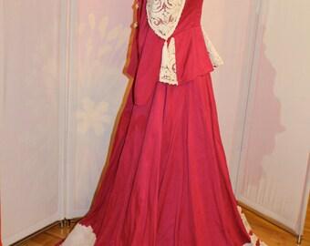 Gorgeous Pink and White ensemble ball gown
