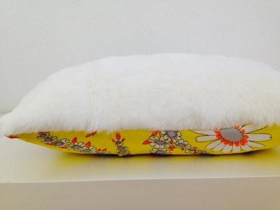 White Faux Fur Decorative Throw Pillow Cover 13x18