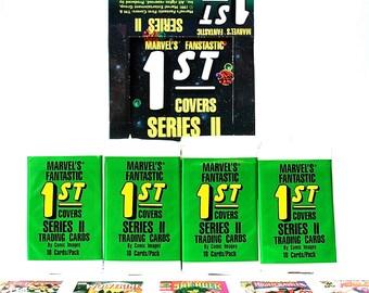 4 Marvel's Fantastic 1st Covers Trading Card Packs 1991