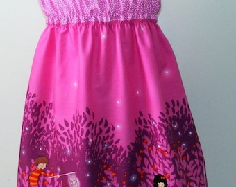 Michael Miller Wee Wander   Shirred Dress ( 18 mos,24 mos,  2T, 3T, 4T, 5, 6, 7, 8, 10 )