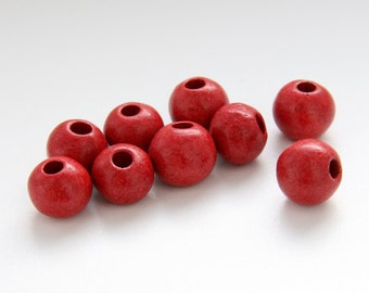 Red Ceramic Beads, Red beads, red greek ceramic beads   C 10 194