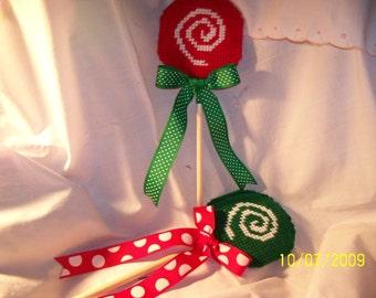 Plastic Canvas Holiday Lollipops Set