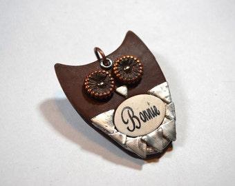 Woodland  Owl Dog Tag / Pet Tag / I.D. Tag