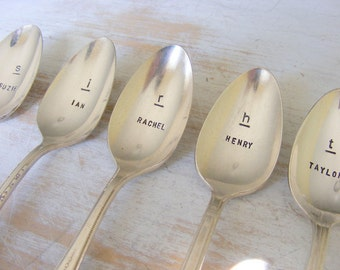 Monogrammed Spoon Set