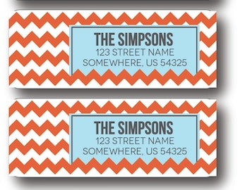 Chevron Return Address Labels