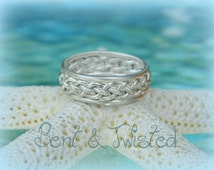 Sterling Silver Braided Band - Bride and Groom Wedding Band - Perfect Gift for Man or Woman