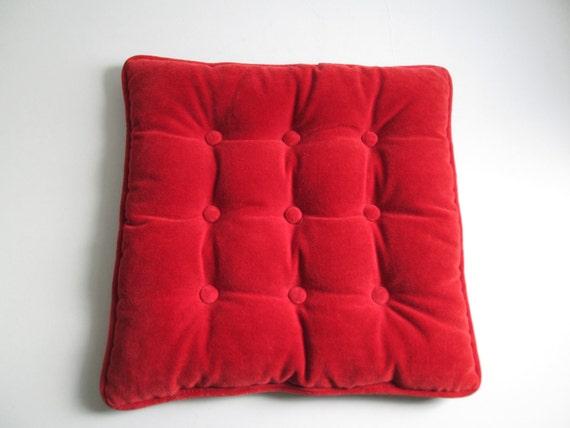 Vintage Velvet Pillow. 1960 s. Hollywood Regency Mid