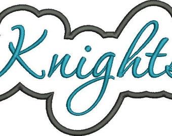 Knights Applique Script