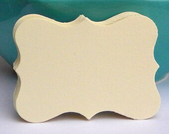 50 Blank cards or tags in butter cream color - Use as gift tags, earring cards, weddings favor tags