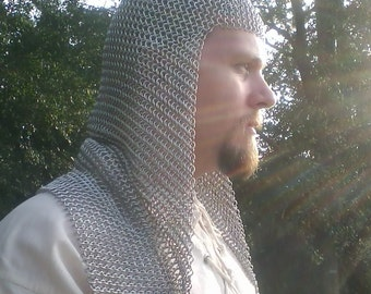 Knights Long Open Coif