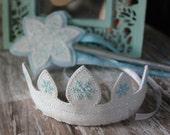 Snow Queen Snowflake Tiara - Glitter wand and tiara - Dress-up Play