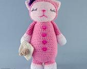 Kitty Amigurumi - PDF Crochet Pattern - Instant Download - Doll crochet Animal Cuddy Stuff Plush