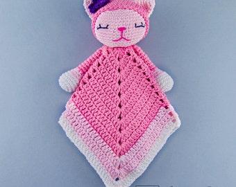 Kitty Lovey / Security Blanket - PDF Crochet Pattern - Instant Download - Blankie Baby Blanket