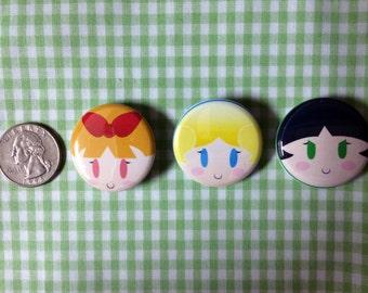 Powerpuff Girls Button Set