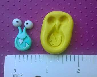 silicone MONSTER mold FLEXIBLE mold heat safe food safe mold for fondant cake decorations cupcake toppers polymer clay plaster