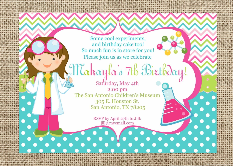 science invite  etsy, Party invitations