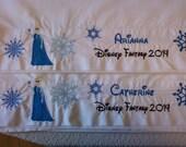 Disney Elsa with Snowflakes Autograph Pillowcase with ship, Disney World or Disneyland