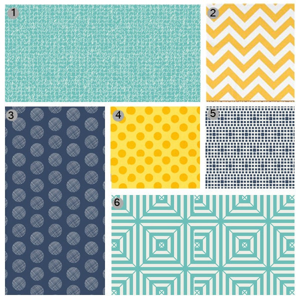 yellow teal nursery bedding options navy blue geometric. Black Bedroom Furniture Sets. Home Design Ideas