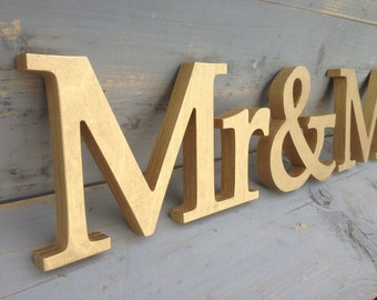 Elegant Mr.. & Mrs.. signs. Wedding table signs.