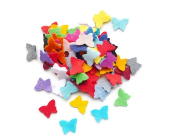 Felt butterflies set of 100 felt shapes Felt butterfly die cut felt shapes
