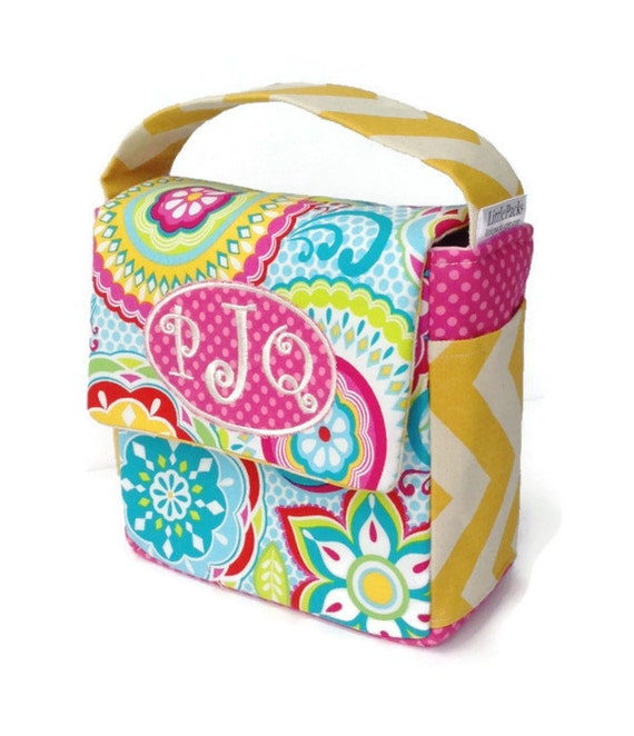 Preschool Lunch Bag, Toddler Lunch Bag, School Lunch Bag, Eco Friendly, Bright Floral Lunch Bag, Chevron Lunch Bag, Lunch Tote, Snack Bag