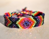 Crystal Friendship Bracelet- pink, black, purple, Blue, Lime green, orange