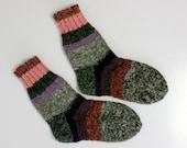 Size US woman 7, EU 37.5, Hand knit wool socks