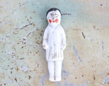 Tiny Frozen Charlotte - Antique Miniature China Doll - German Porcelain