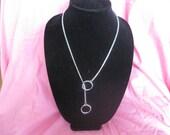 "24""  Silver, Choke Chain Necklace, Chrome, Snake Chain"