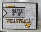 Volleyball Birthday Card Happy Birthday SALE