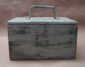 Vintage Industrial  Tool Box - Farmhouse Style 1930s 40s 50s