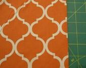"85480 - Niagra Mills  Medium 2 1/2""  Quatrefoil  cotton fabric Sienna Orange color- 1 yard"