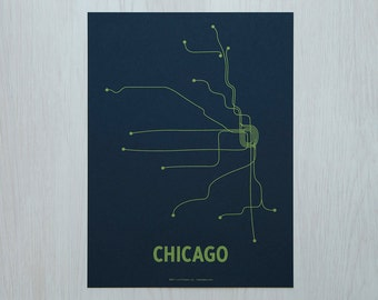 Chicago Sm Screen Print - Navy/Green