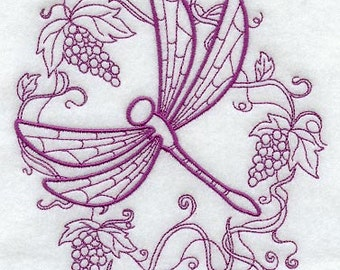 Delightful Dragonfly Embroidered Flour Sack Hand/Dish Towel