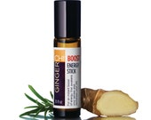 GingerChi 10ml Energy Stick Chi Boost Portable Roll On Energy Booster Fatigue Relief Essential Oil Blend All Natural Caffeine Free