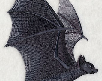 Flying Bat Embroidered Flour Sack Hand/Dish Towel