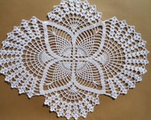 Crochet doily ,white doily , oval doilies , lace ,home decor