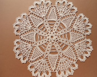 Ecru crochet doily , lace doily , wedding doilies , 12 ""