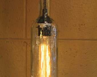 High West Recycled Bottle Hanging Pendant Light