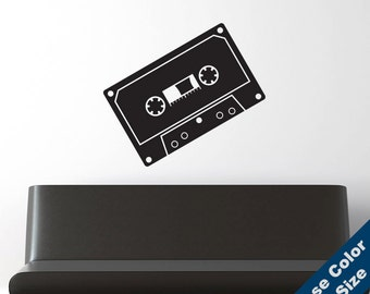 Retro Cassette Tape Wall Decal - Vinyl Sticker - Free Shipping