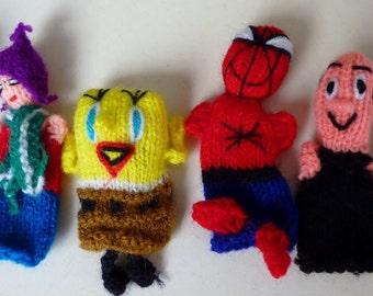 animal finger puppets set of 12