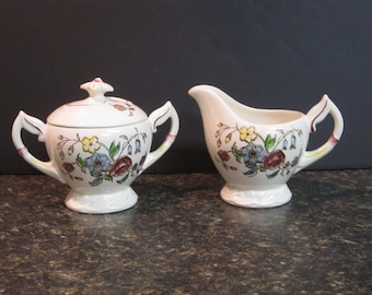 Vernon Kilns Cream Pitcher and Sugar bowl