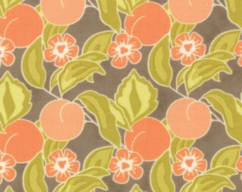 SALE - Mirabelle - Bark Orchard Brown Grey - Cotton Print fabric by Fig Tree Co from Moda