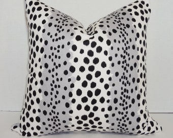 Waverly Spot On Animal Print Pillow Cover Leopard Black Grey White Pillow Cover Baby Nursery Throw Pillow