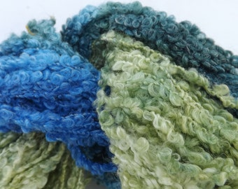 Hand painted boucle yarn