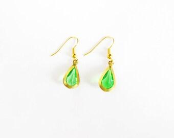 Legend of Zelda Inspired Green Drops Earrings