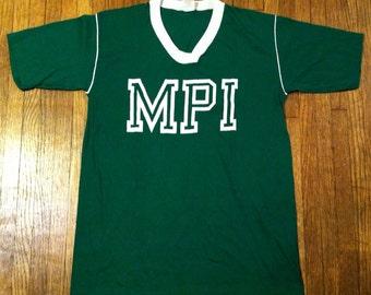 Cute vintage 1970's-1980's MPI t-shirt, M-L