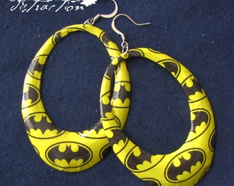 NaNaNaNa Batman! Hoop Earrings FREE shipping